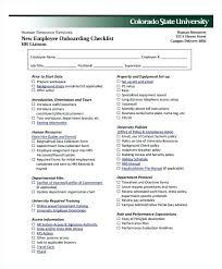 Staff Orientation Checklist New Hire Orientation Checklist Template Program Schedule Template