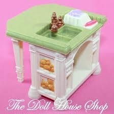 Loving Family Kitchen Furniture Fisher Price Loving Family Dollhouse White Kitchen Sink Island
