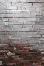 fascinating image of painting faux bricks for home interior wall decoration astounding image of white