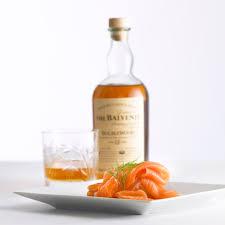 john ross jr s balvenie whisky smoked salmon on a plate