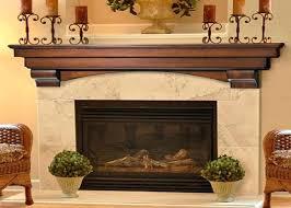 brick fireplace decor interior mantel brown decorating ideas
