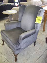 interestingback chair i gray with brown wooden legs for cost reupholstering a wingback to reupholst