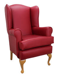 faux leather high back chairs. queen anne red faux leather orthopedic high back chair chairs