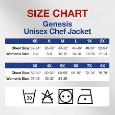 Amazon Jacket Size Chart Mercer Culinary M61020bks Genesis Mens Chef Jacket With Cloth Knot Buttons Small Black