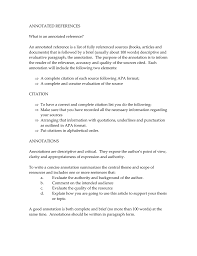 Annotated Reference List Apa Annotated Bibliography Apa Citation