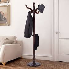 Hat And Coat Rack Tree Awesome Costway 32'' Wood Hat Coat Rack Hanger Tree Stand Hallway Entry Home