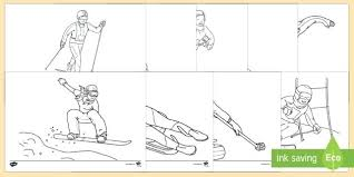 Olympic Coloring Pages Winter Olympic Games Colouring Pages