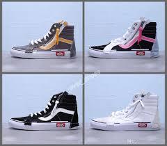 Vans Old Skool New Design 2020 New Vans Vault Sk8 Hi Cap Lx Old Skool Black White Canvas Checkerboard Designer Shoes Fashion Women Mens Casual Sneakers High Top 35 44 Indoor