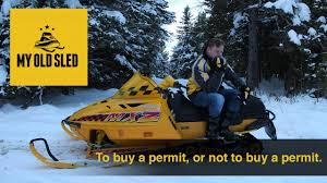 did i a snowmobile trail permit this year