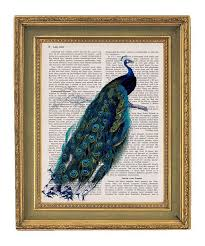 Wonderful Anyone Who Knows Me Knows Iu0027m Obsessed With Peacocks. I Need To Buy This  For My Peacock Themed Bathroom! Stunning Peacock Vintage Book Print Page By  ...