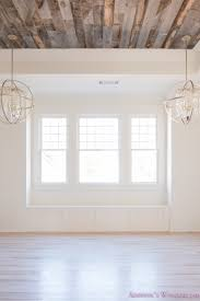 White Washed Wood Ceiling Alabaster Walls Girls Bedroom Stikwood Weathered Wood Ceiling Shaw