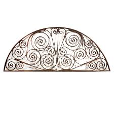 fabulous antique french colonial wrought iron fan arch piece 19th centuryfabulous antique french colonial wrought iron fan arch piece 19th century ni1 rw