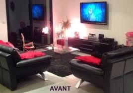 Salon Design Noir Et Rouge Idee Deco Cuisine Rouge Et Blanc