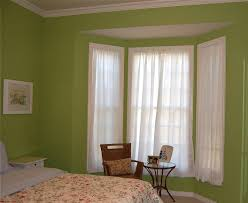 Short Bedroom Curtains Sheer White Short Curtains For Bedroom With Green Walls