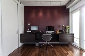 home office wall ideas. Office Accent Wall Ideas Home Contemporary With Computer Desk Dark Wood Floor P