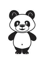 Kleurplaat Panda Symbolen Pinterest