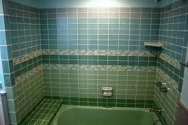 colored subway tile bathroom