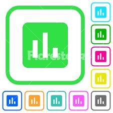 Chart Vivid Colored Flat Icons Stock Vector Flarestock