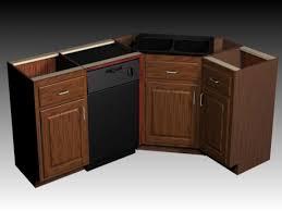 Corner Kitchen Sink Cabinets Corner Kitchen Sink Cabinet Measurements Design Porter
