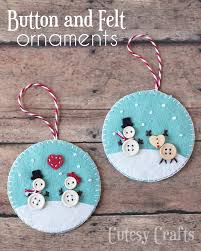 Button & Felt Christmas Ornaments...these are the BEST Homemade Holiday  Ornament Ideas