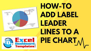 How To Add Label Leader Lines To An Excel Pie Chart