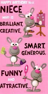 Cute Funny Niece Birthday Greeting Card