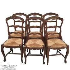 french country ladder back chairs set of 6 antique country french rush seat chairs french country