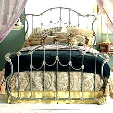 King Size Iron Bed Frames King Headboard Metal Iron Bed King Size ...