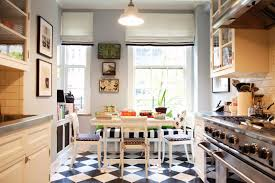 Checkerboard Kitchen Floor Black And White Kitchen Floor Ideas