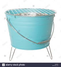 Blue Light Grill Light Blue Barbecue Grill Isolated On White Background Stock