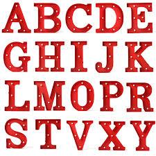 Hot Sale LED Night Light font b Lamp b font Kids Marquee Letter Lights Vintage Alphabet