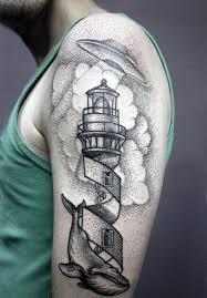 100 Ufo Tetování Vzory Pro Muže Alien Abduction Inkoust