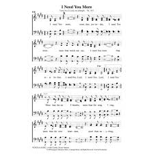 lord i need you sheet music i need you more pdf song sheet