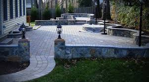 Small Picture Patio Design With Pavers and Stone Wall Patio Style Idea Photo