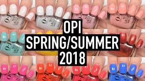 opi lisbon spring summer 2018 swatch and review