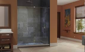 perfect frameless dreamline mirage shower door with marble walls