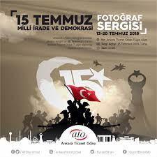 """Ankara Ticaret Odası Twitter वर: """"ATO'dan #15Temmuz Fotoğrafları Sergisi  ATO, #15Temmuz Demokrasi ve Milli Birlik Günü dolayısıyla, @anadoluajansi  fotoğraflarından oluşan bir sergi düzenlemiş olup, sergi 20 Temmuz'a kadar  gezilebilecektir. Tüm ..."""