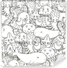 Carta Da Parati Illustrazione Della Collezione Di Animali Marini
