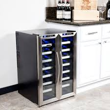 Cabinet With Wine Cooler Whynter Wc 321dd 32 Bottle Dual Temperature Zone Wine Cooler