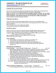 Database Developer Sample Resume Cool How Professional Database Developer Resume Must Be Written 16