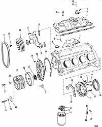 mercruiser 200 2 barrel gm 305 v 8 1987 intake manifold front engine section