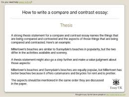 HOW TO WRITE COMPARE AND CONTRAST ESSAY comparison and contrast essay examples elementary