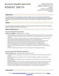 Accounts Payable Specialist Resume Samples Qwikresume