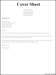 Cover Letter To Fax Cover Letter Fax Sample Professional Cover Letter Fax Format