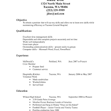 Fast Food Resume Sample Fascinating Resume Examples Fast Food Worker With Additional 9