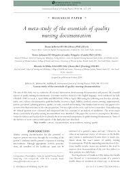 Pdf A Meta Study Of The Essentials Of Quality Nursing