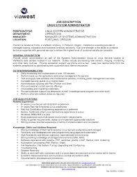 ... Linux Sys Administration Sample Resume 5 Cute System Administrator Job  Description Sle ...