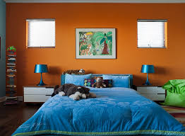 View In Gallery Super Hot And Trendy Colorful Kidsu0027 Bedroom In Orange And  Blue