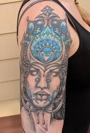 Painted Temple : Tattoos : Bonnie Seeley : Bonnie Seeley