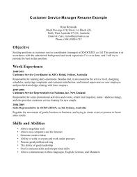 Profile Objective For Customer Service Representative Resume